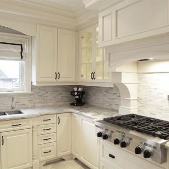 Custom White Cabinets Kitchen