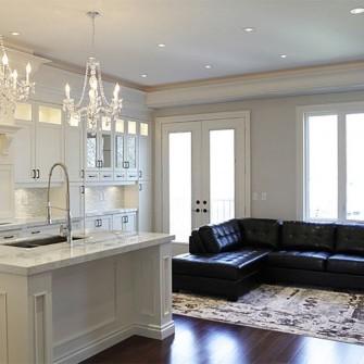 Luxury Home Living Room Kitchen