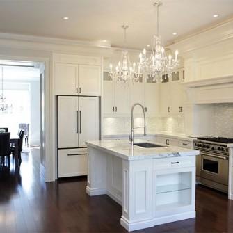 Luxury Home White Marble Kitchen