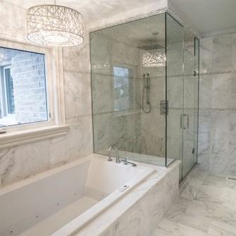 White Marble Custom Bathroom